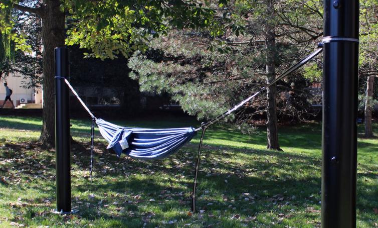 hang a hammock at open spaces
