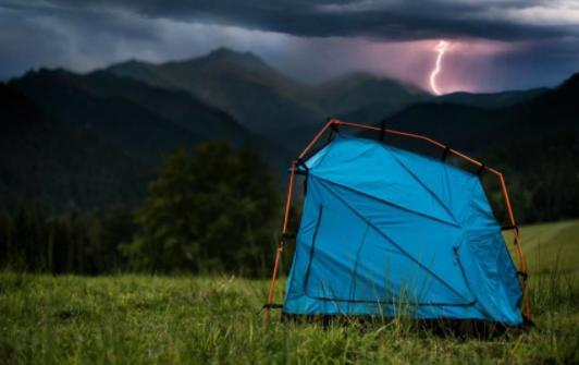 select a protective campsite against severe weather