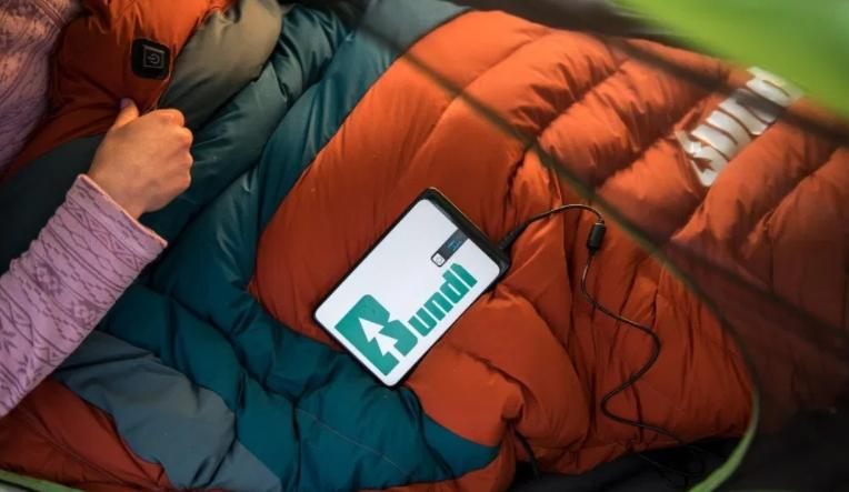 use heated sleeping bag warm to keep camping warm in a tent