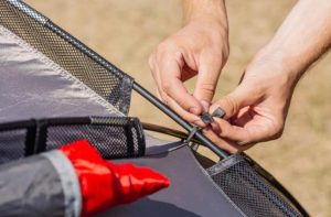methods to fix a tent pole