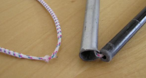 methods to fix a tent pole elastic
