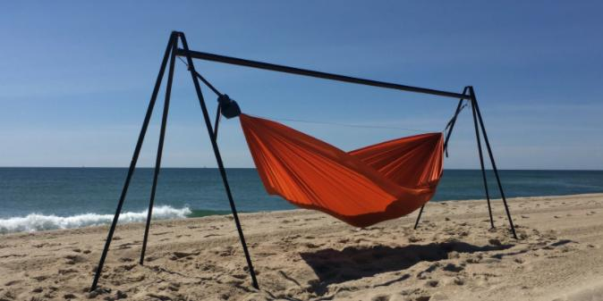 hang a hammock on a stand