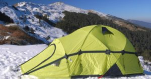 methods to keep warm in a tent