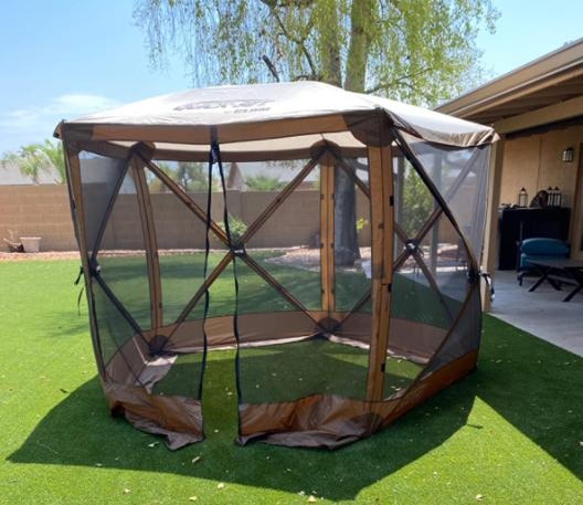key features of quick set 12875 venture screen shelter