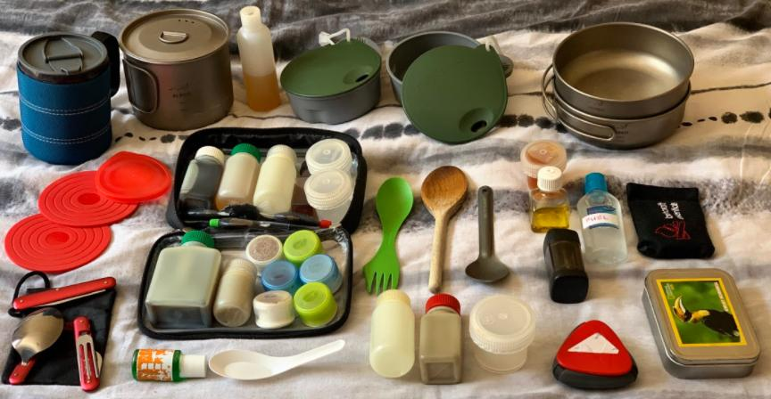 pack the cook utensile before camping
