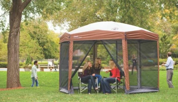review of coleman screened canopy tent 12x10