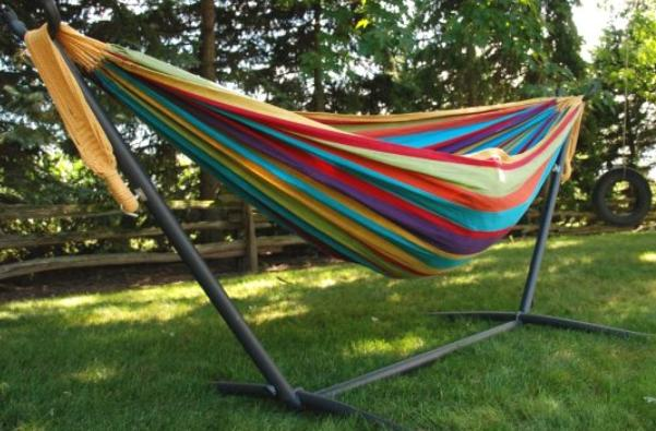 hang a hammock with stand