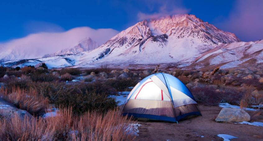 choose campsite to stay warm in tent