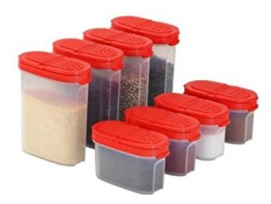 use some plastic containers to store your spices