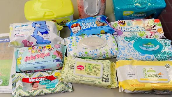 carry many baby wipes for your family camping