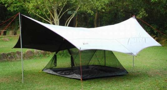 use a tarp to waterproof a tent