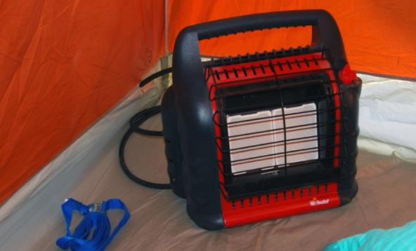 use tent heater to defend cold weather