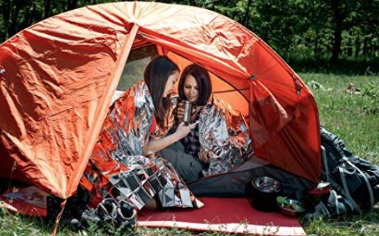 use mylar blanket to insulate your tent