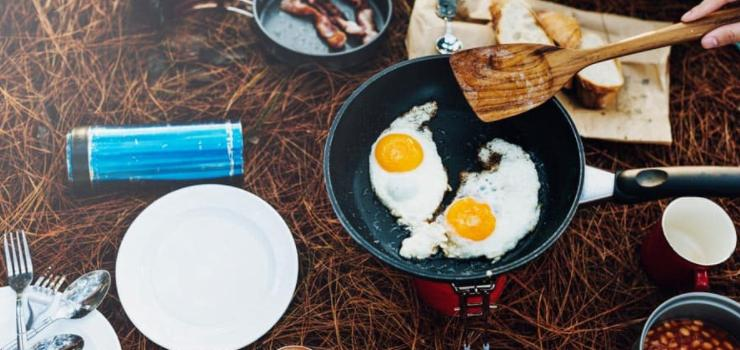 cook simple meals during your first time camping