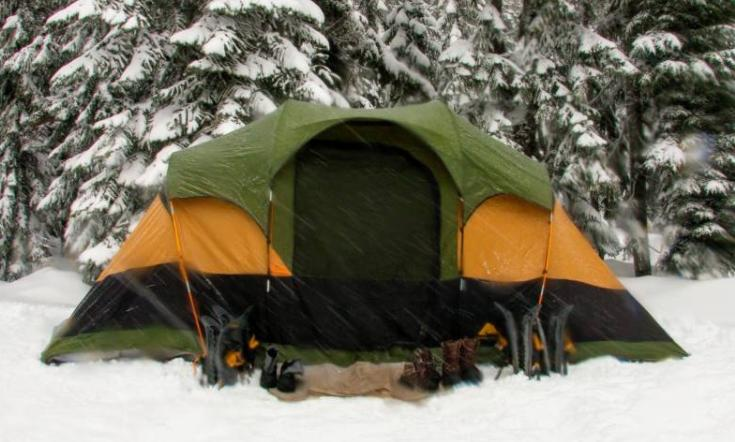 choose the right tent to stay warm in winter