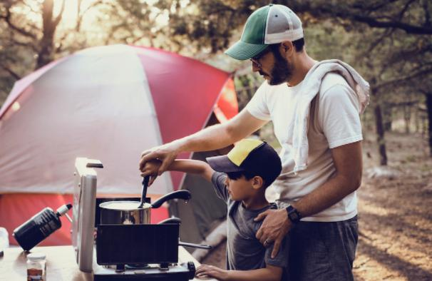 family camping with toddlers
