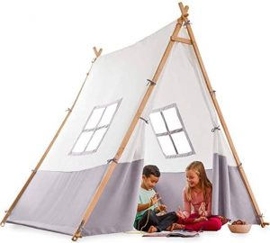 A-frame tent with LED