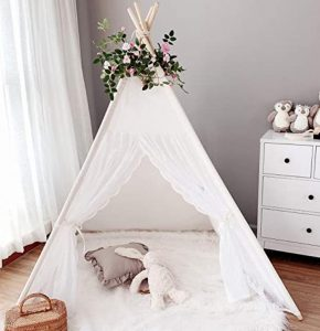 flower decor indian tent for girls