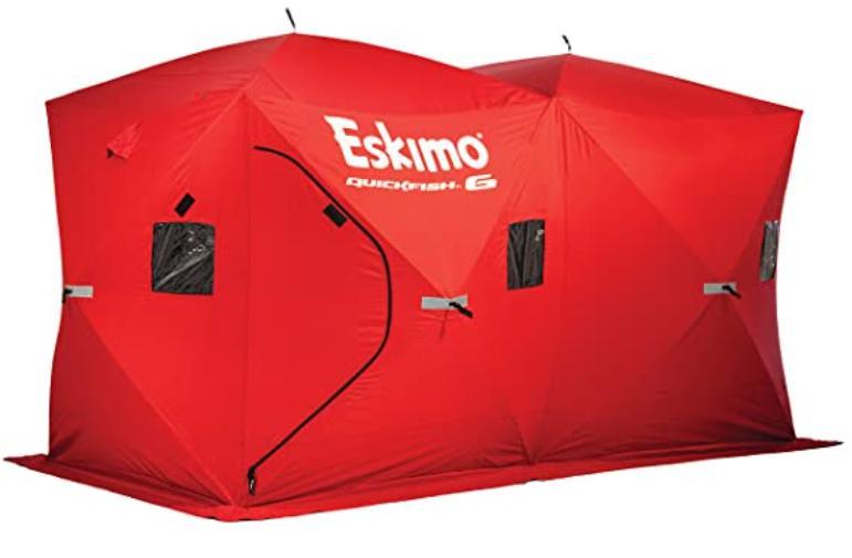 Easy setup ice fishing shelter
