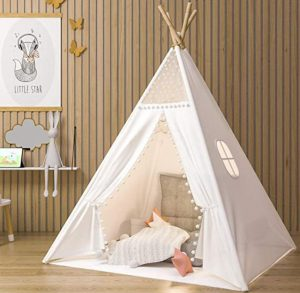 cotton teepee tent for kids play