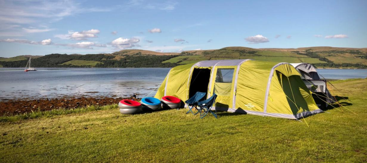 exhaust the moisture of your tent