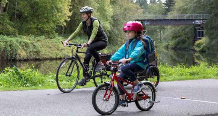 bike camping with kids