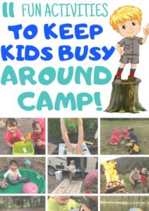 prepare activities for kids camping