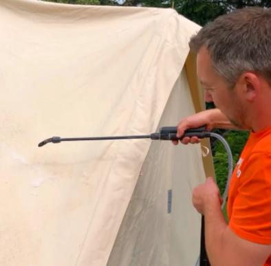 how to clean a moldy tent