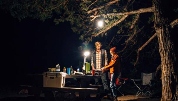 take care of your kids at night when camping