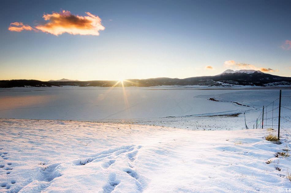 ice fishing place - Antero Reservoir