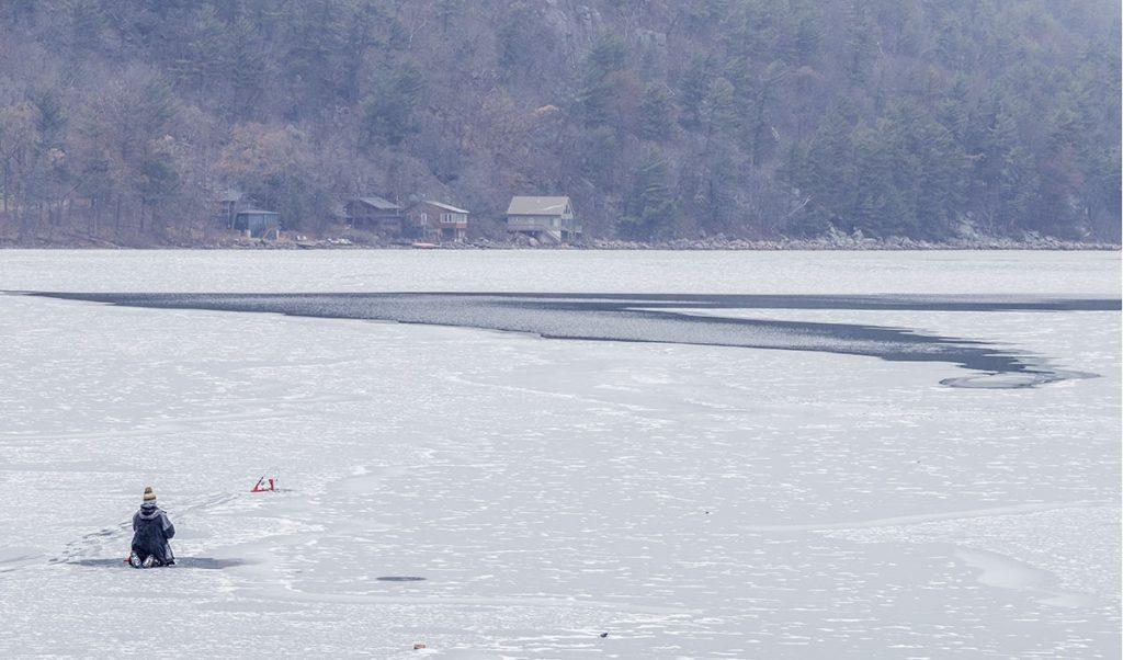 ice fishing location - Devil's lake