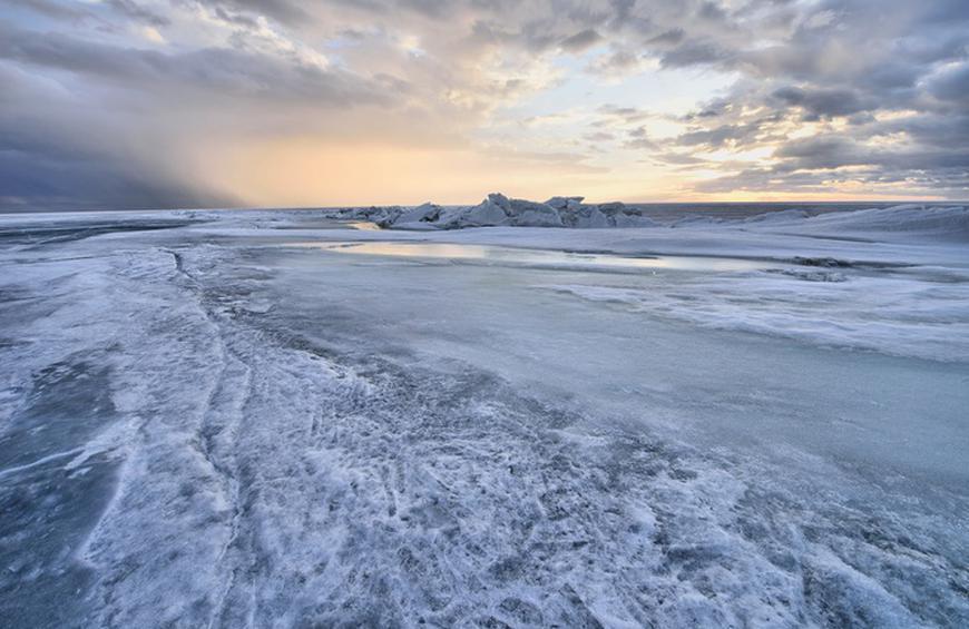 ice fishing place - Lake Winnipeg
