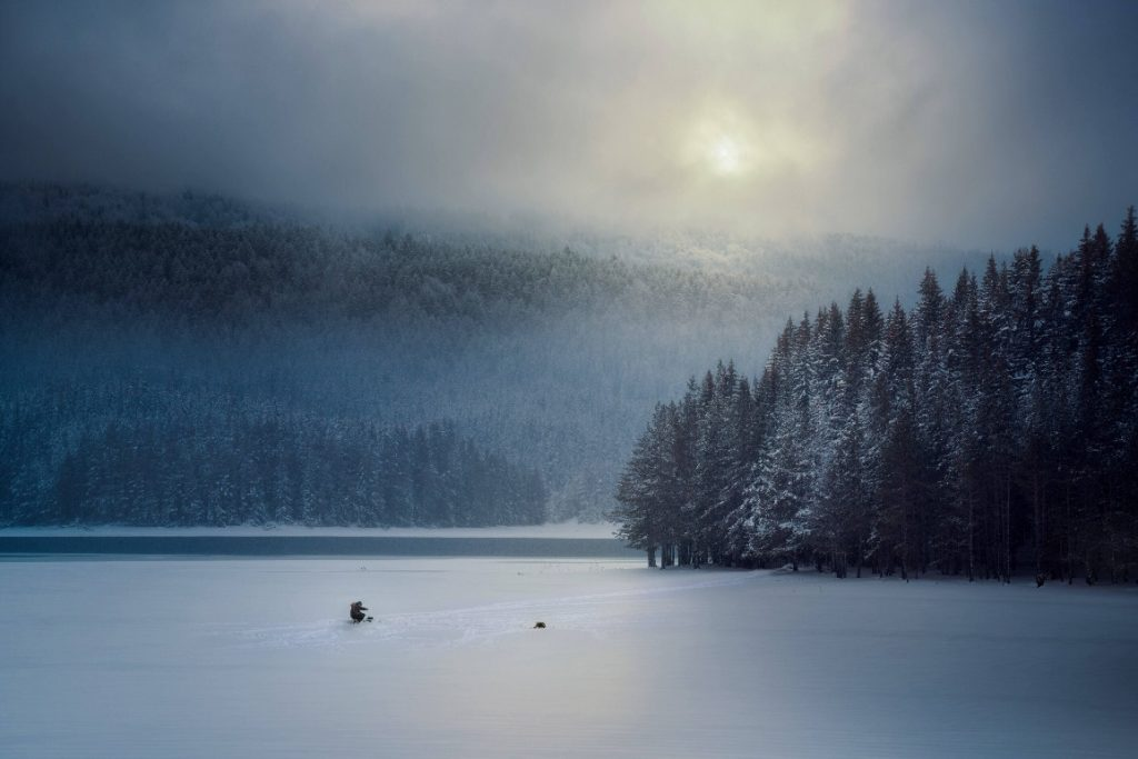 ice fishing place - Lake of the wood