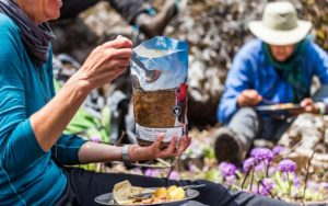 keep your food dry when camping in the rain