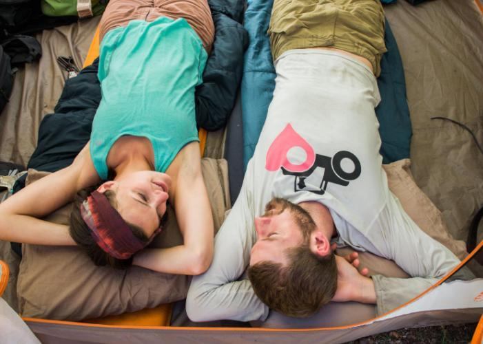 don't use sleeping bag to keep cool