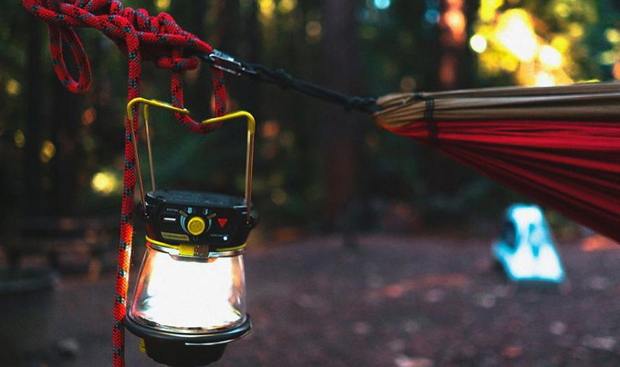 ensure light supply when camping with toddlers