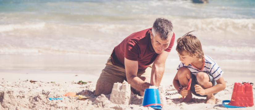 go beach camping with your kids