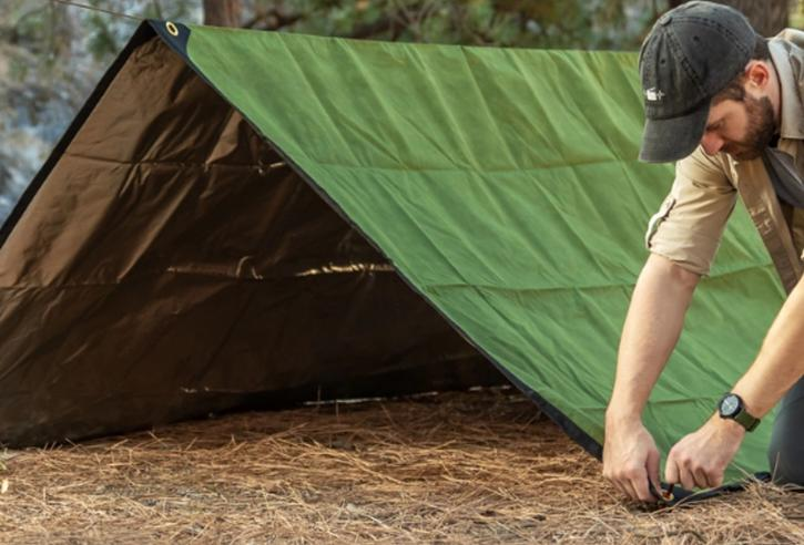 put blanket under your tent to keep cool