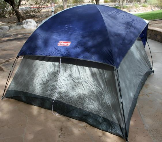 cool your tent with a rainfly