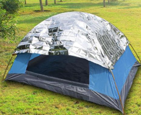 cool your tent with reflective blanket