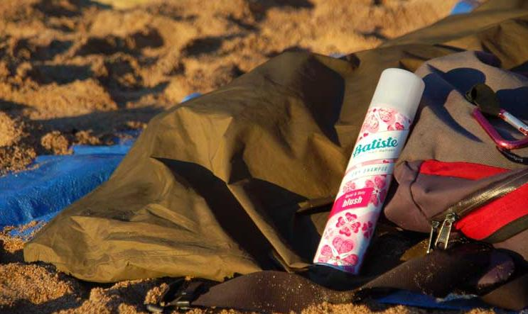 take dry shampoo for camping